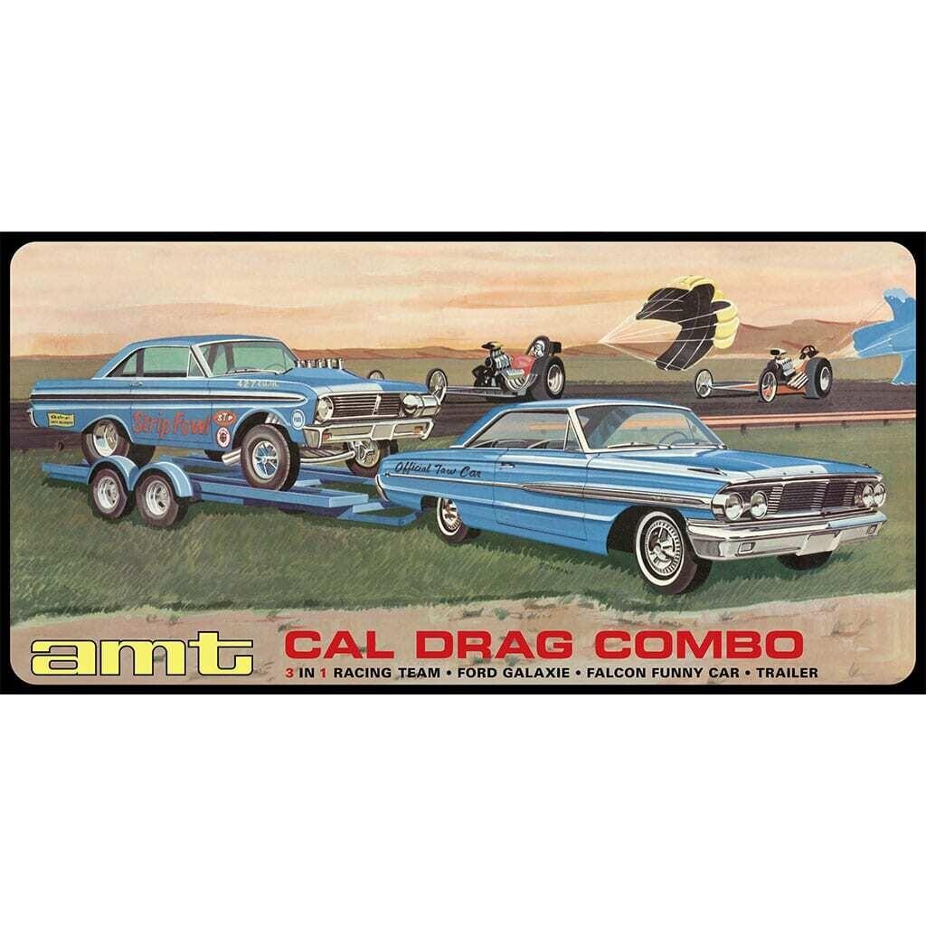 1/25 Cal Drag Combo 64 Galaxie AWB Falcon & Trailr