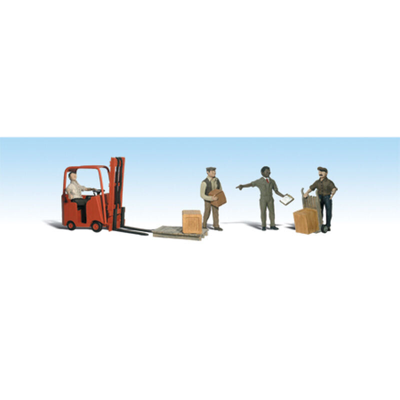 HO Workers w/Forklift