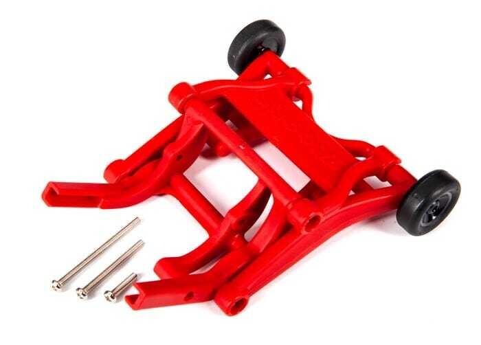 Wheelie bar, assembled (red) (fits Slash, Bandit®, Rustler®, Stampede® series