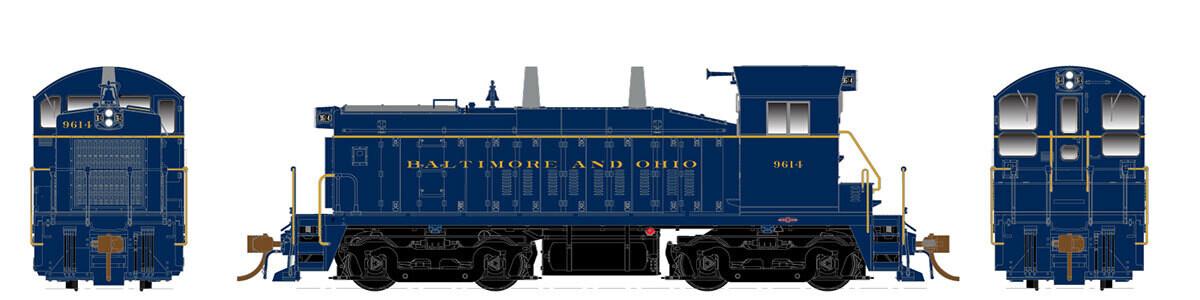 HO SW1200, B&O #9614