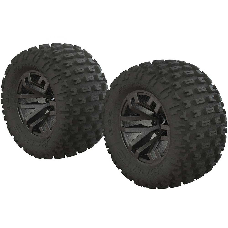 AR550045 Fortress MT Tire Set Glued Blk Chrm (2)