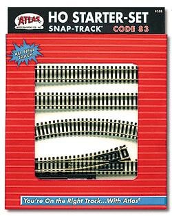 Code 83 Nickel-Silver Snap-Track Set -- Starter Set