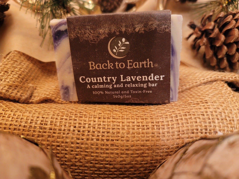 Country Lavender Calming Bar Soap - 140g/5oz