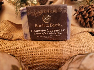 Country Lavender Calming Bar Soap - 140g/5oz