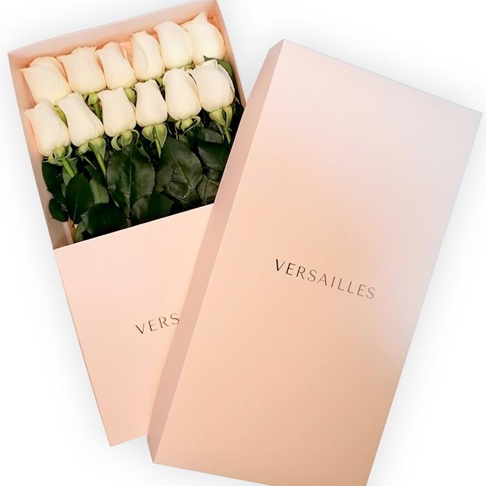 Rosas x 12 Caja - Blanco