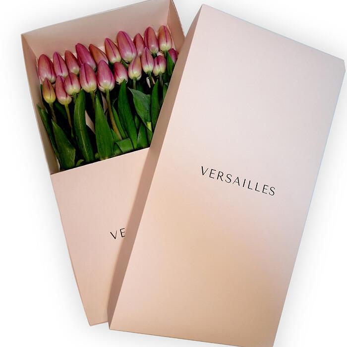 Tulipanes x 20  Caja - Rosado