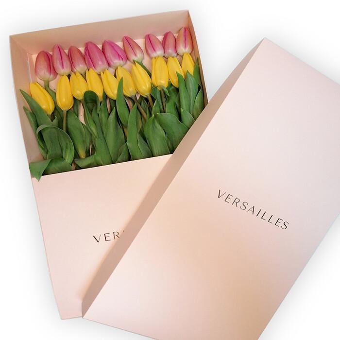 Tulipanes x 20  Caja - Rosado/Amarillo