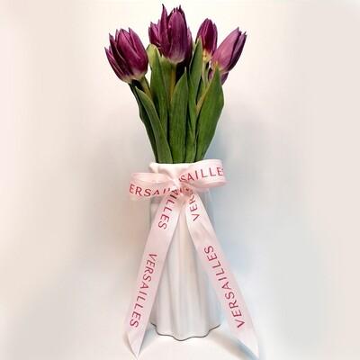 Florero 10 Tulipanes - Violeta