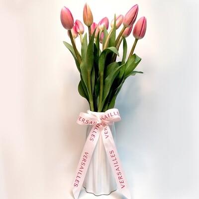 Florero 10 Tulipanes - Rosado