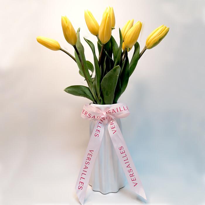 Florero 10 Tulipanes - Amarillo