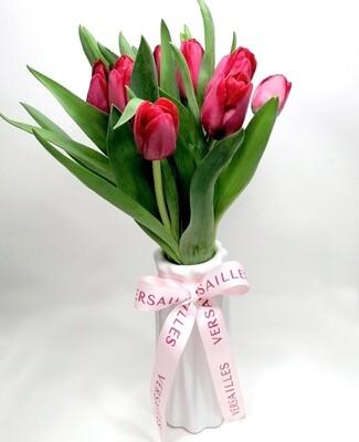 Florero 10 Tulipanes - Rojo