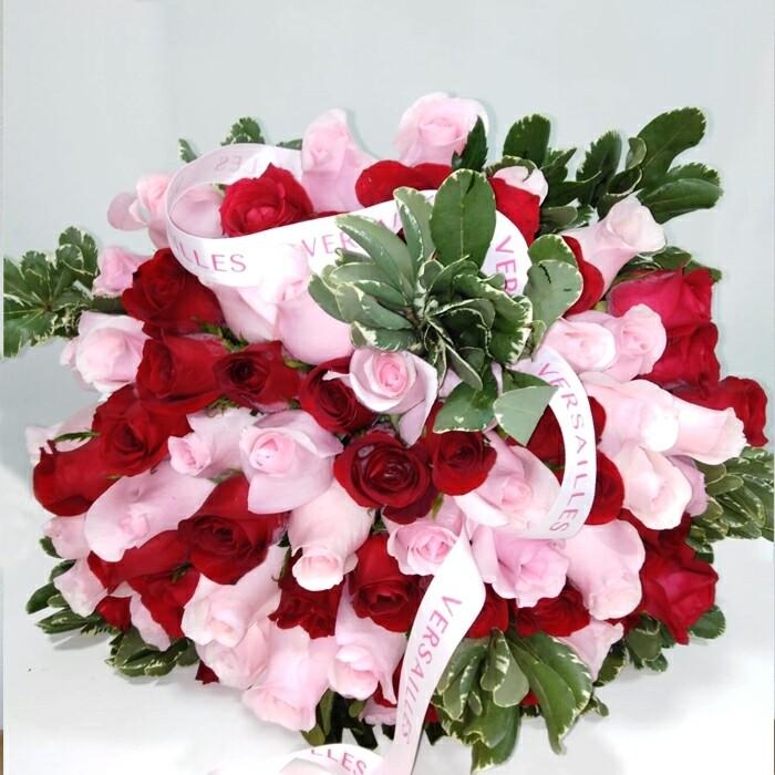 Ramo 100 Rosas Titanic y Rojas