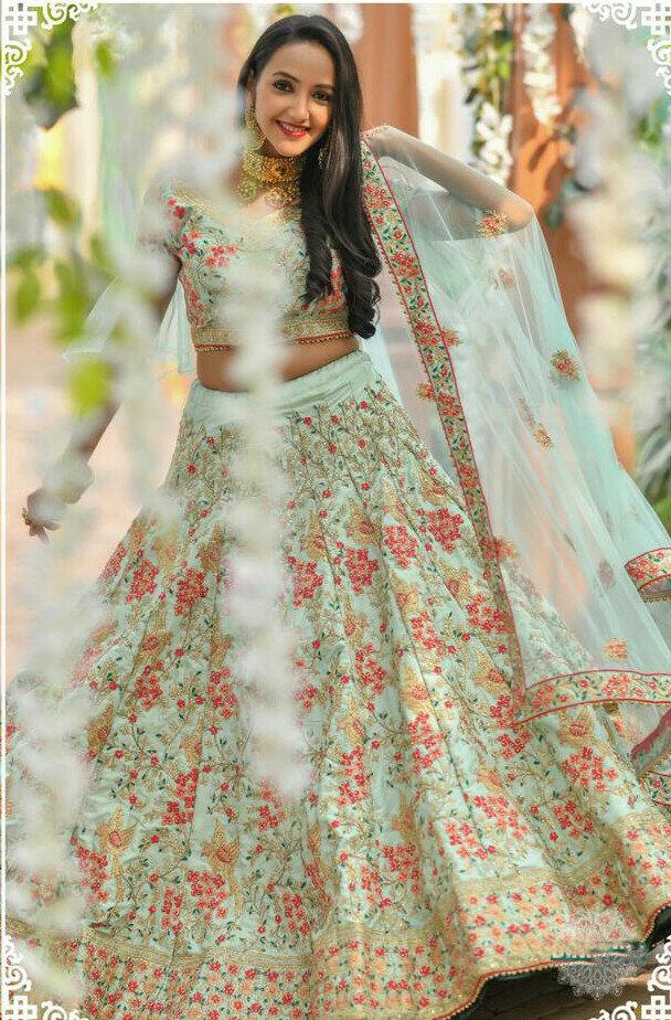 Fabulous Adda Silk Multi Color Jacquard Dori Work Lehenga Choli