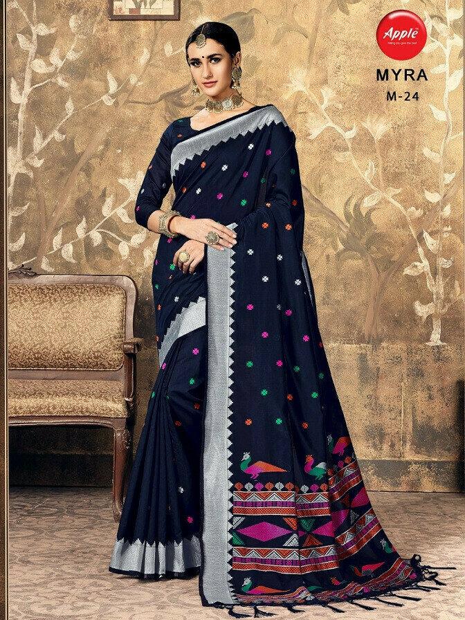 Cotton Silk Saree With Weaving Work