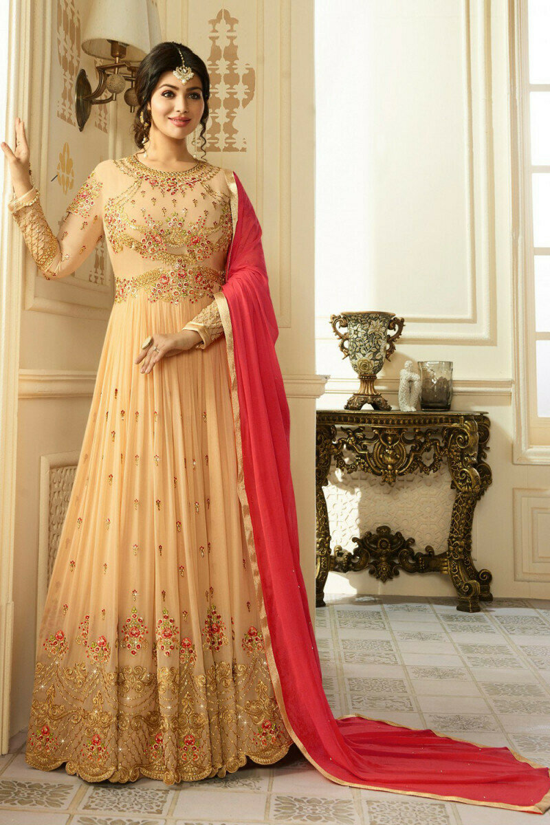 Gorgeous Ayesha Takia Faux Georgette Anarkali Gown