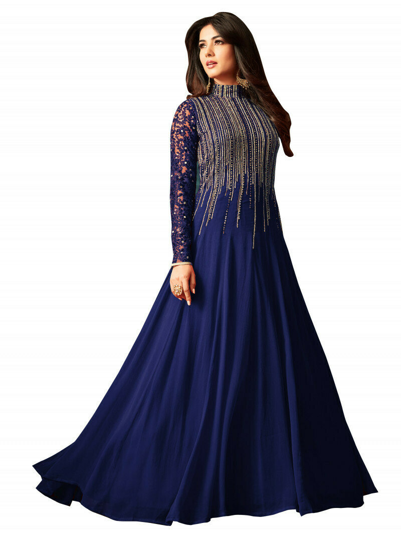 Heavy Flattering Embroidered Long Anarkali Gown