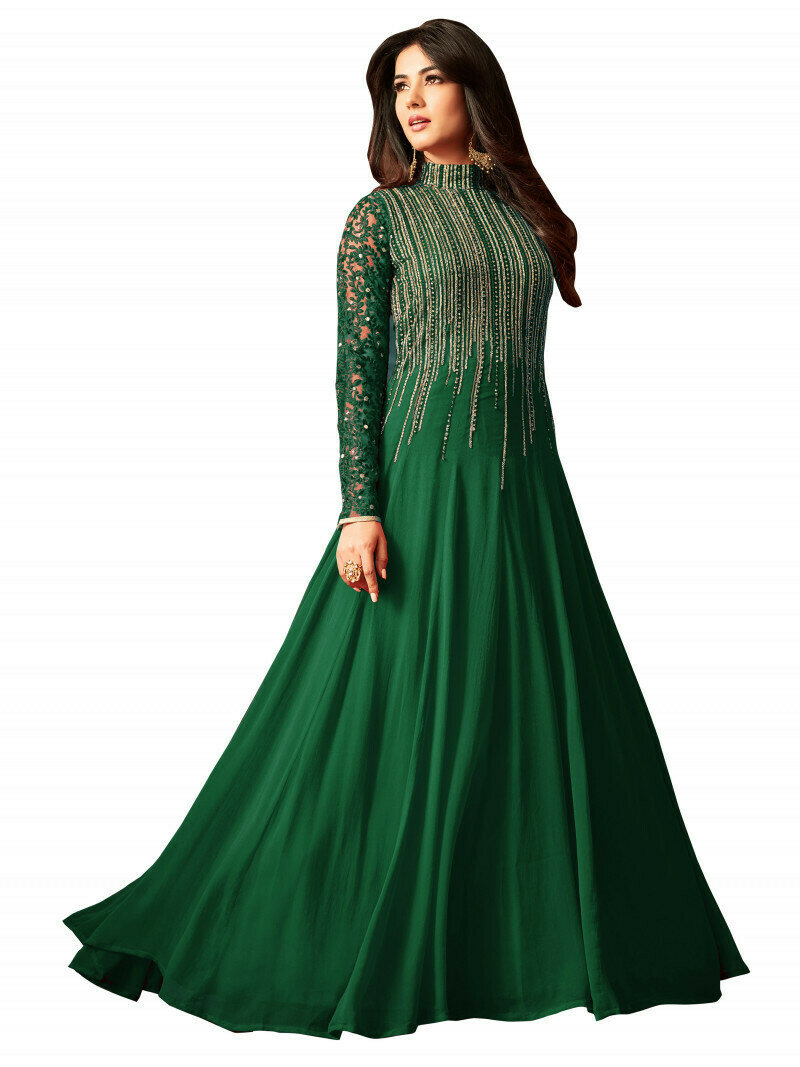 Sonal�Chauhan Georgette Embroidered Long Gown