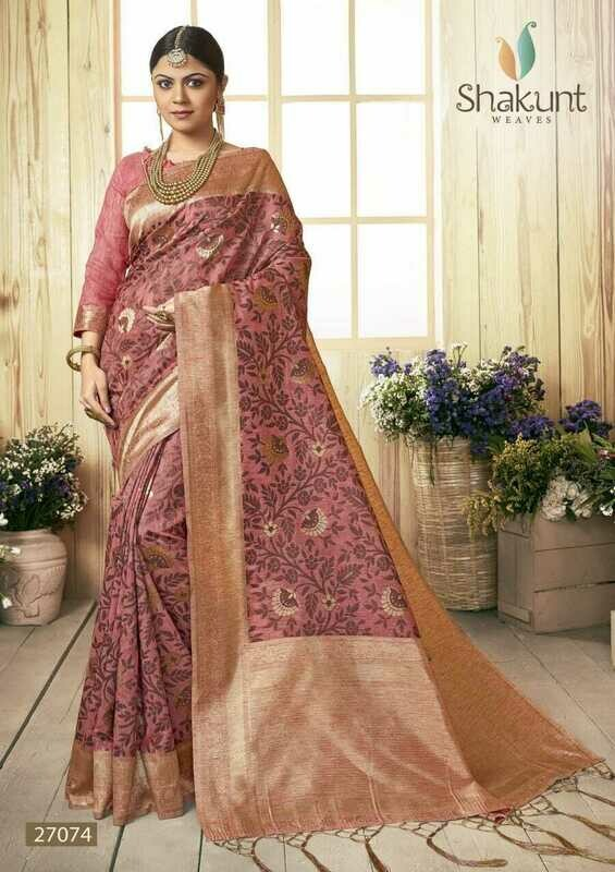 Mesmerising Mauve Colour Designer Party Wear Cotton Saree