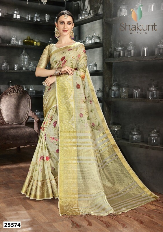 Gorgeous Light Green Color Casual Art Silk Indian Saree