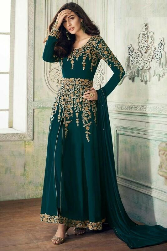 Adorable Morpankh Color Georgette Anarkali Suit