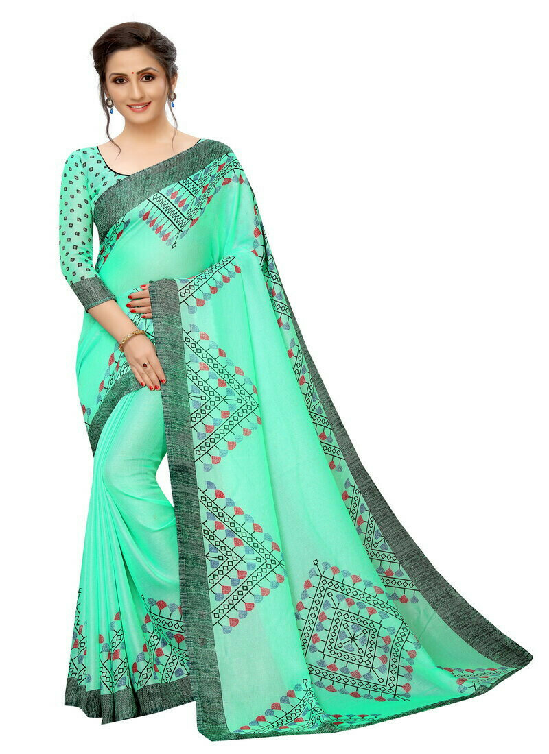 Delightful Firoxzi Cotton Silk Printed Saree