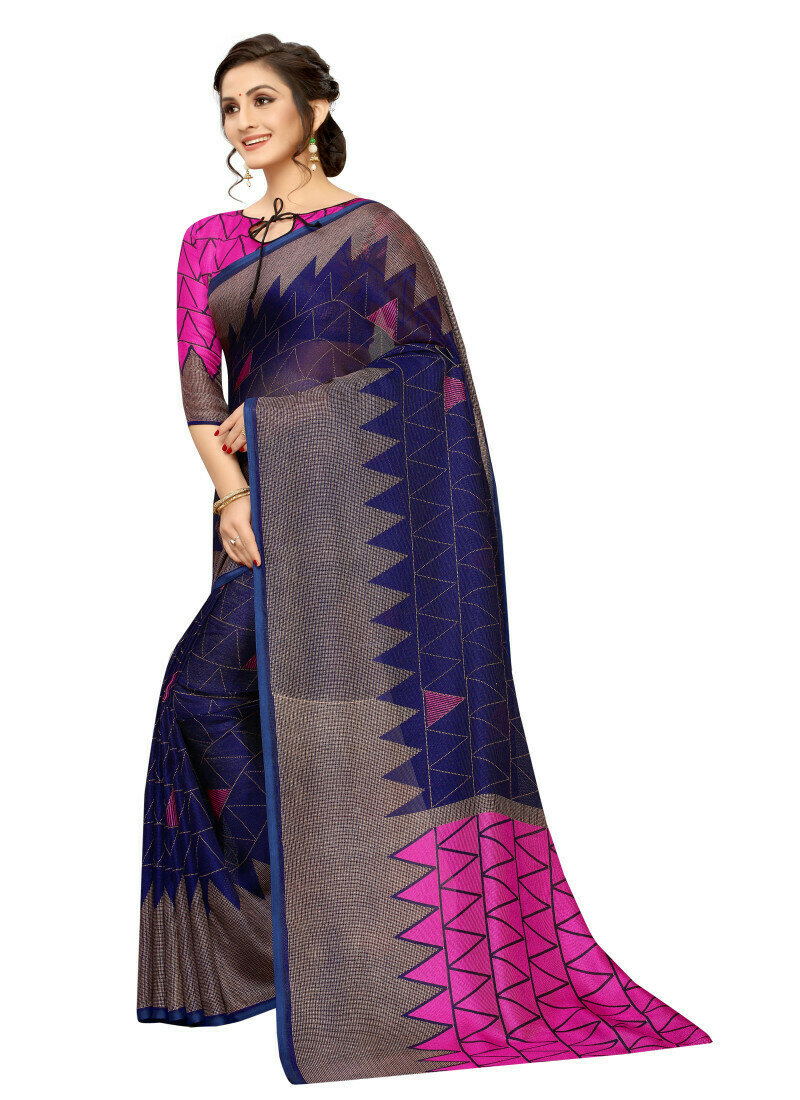 Gleaming Casual Wear Soft Cotton Purple Saree