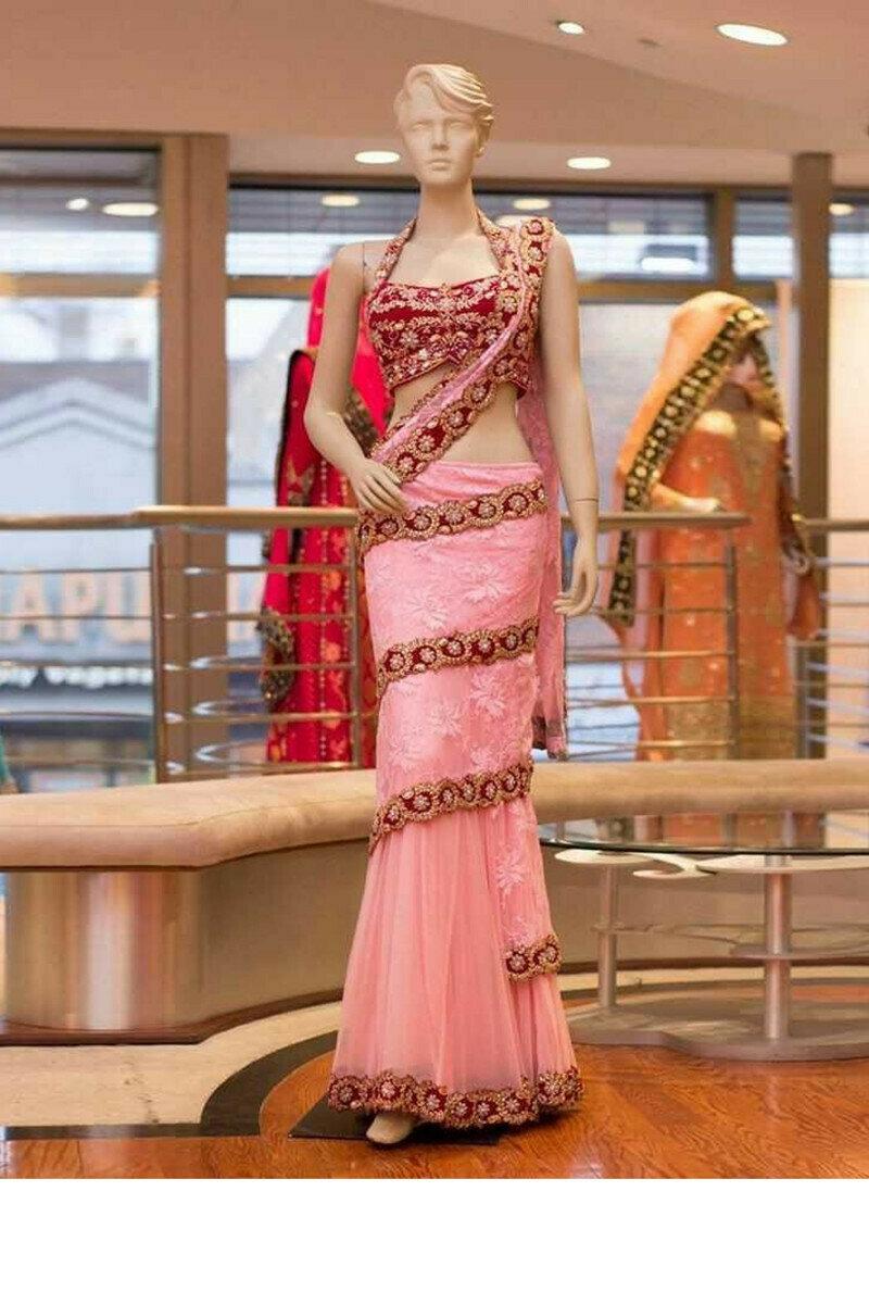 fasgion design light pink lehenga choli