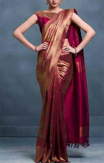 Admirable Brown Color Designer Soft Silk Saree