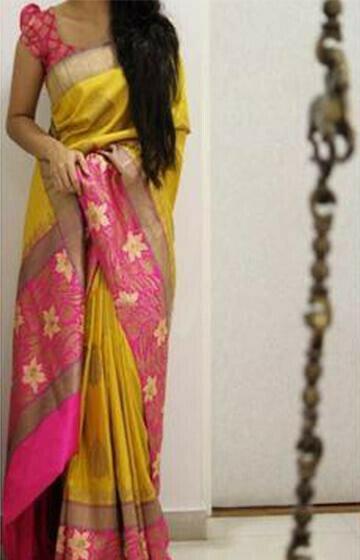 Alluring Yellow Color Soft Silk Designer Sarees