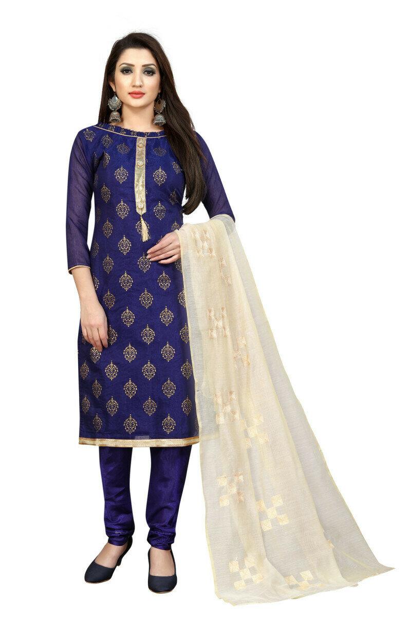 Amazing Navy Blue Color Party Wear Salwar Suit