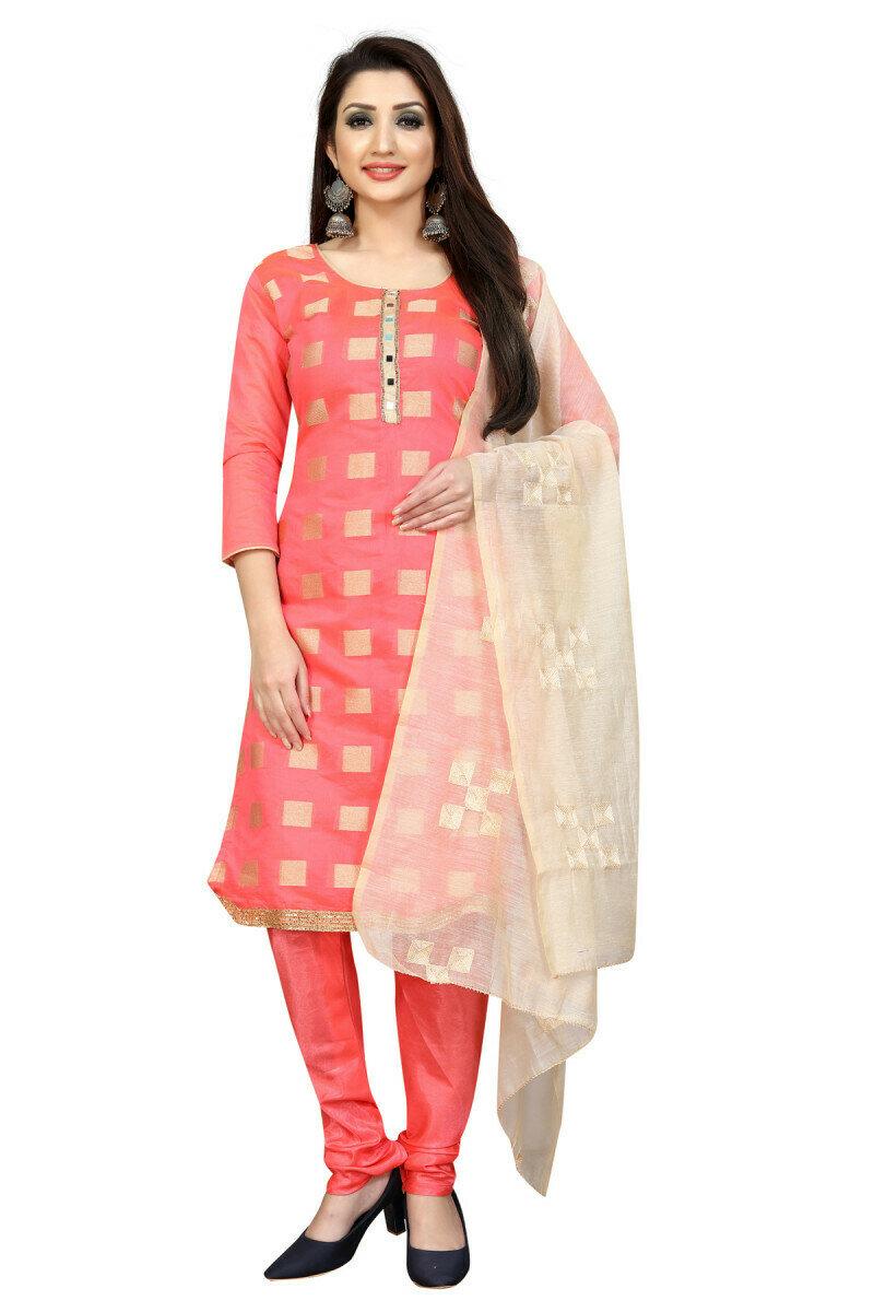 Amazing Pink Color Causal Salwar Suit