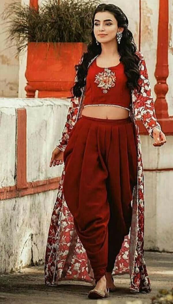 Ankita Sharma Maroon Patiyala Indowestern