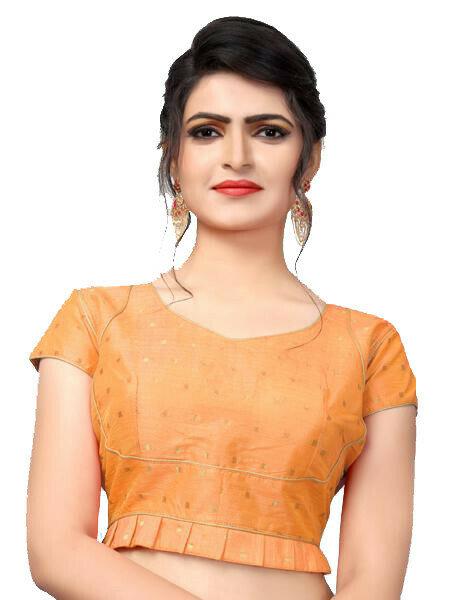 Beautiful Orange Color Bridal Blouse