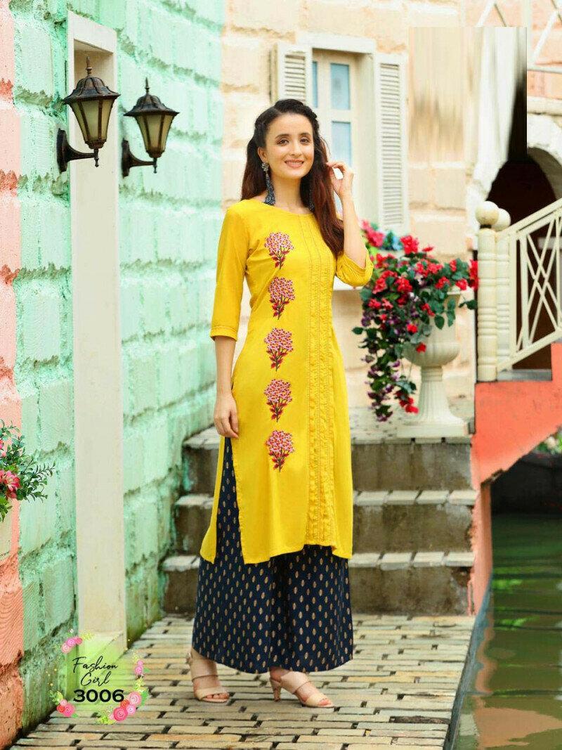 Beautiful Yellow Wedding Wear Palazzo Suit