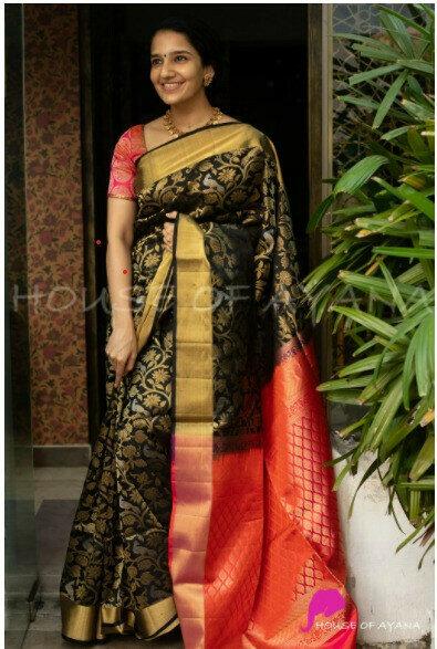 Beautifull Black Fancy Saree