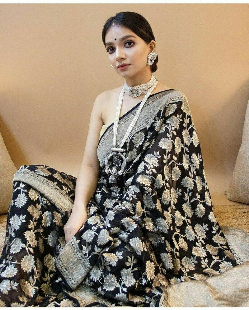 Black Color Heavy Saree