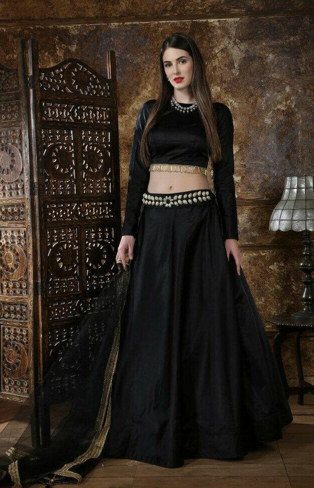 Black Color Party Wear fancy Lehenga Choli