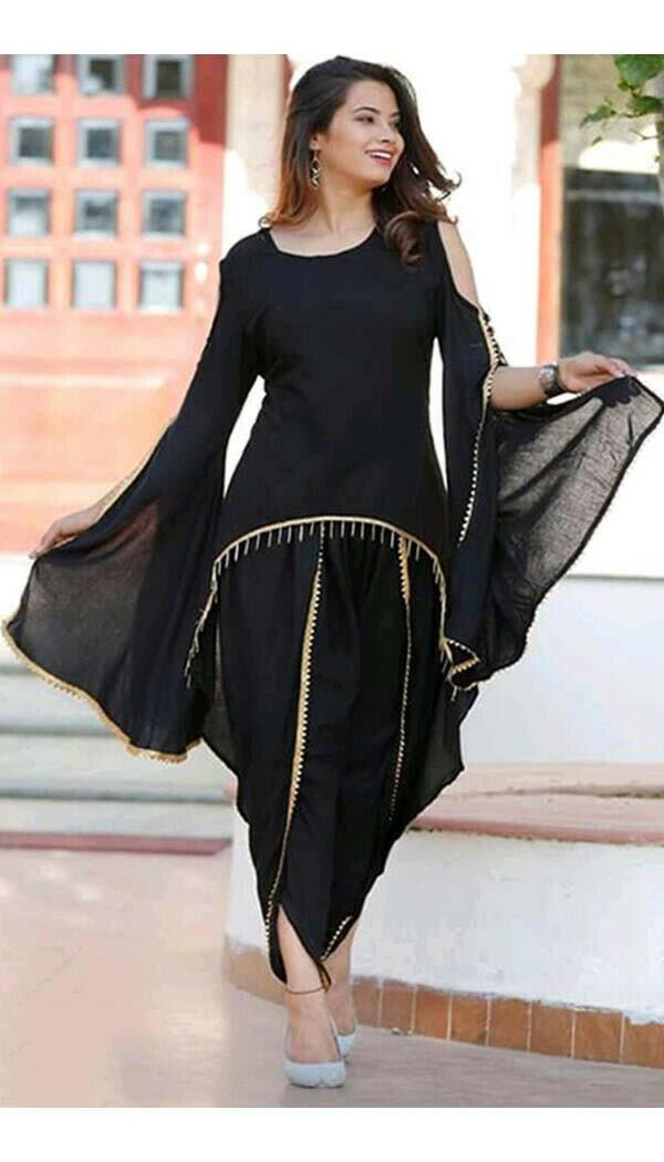 Black Dhoti patiala (Full Stitch)