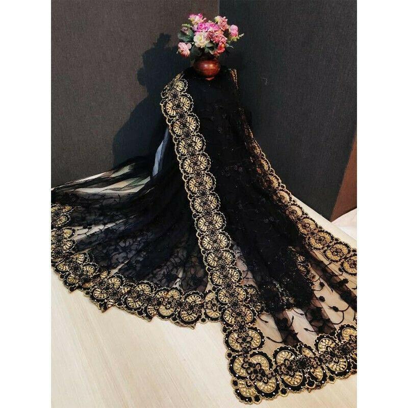 Black Party Wear Latest Designer Fancy Saree Collection