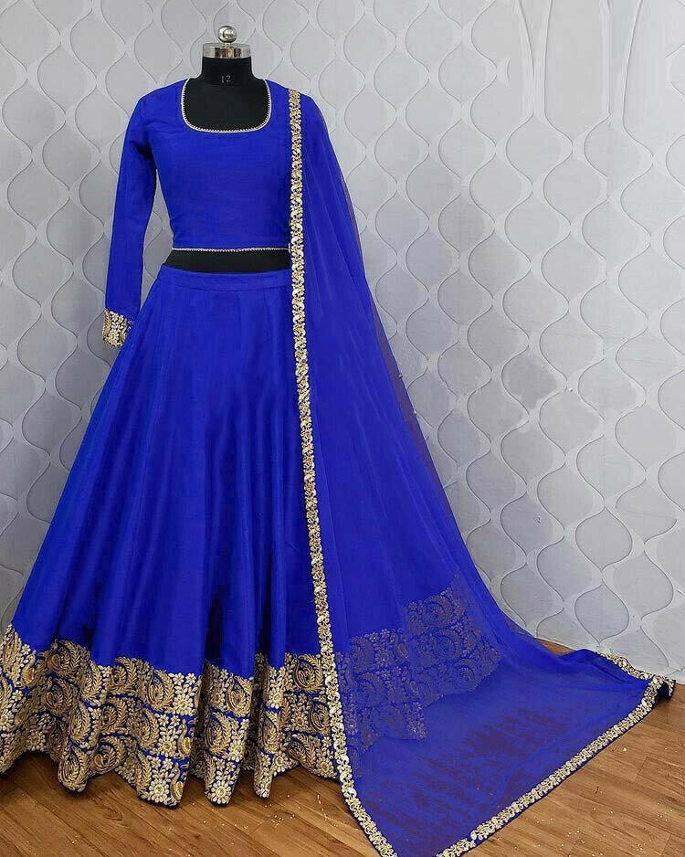 Blue Color Designer Georgette Lehenga Choli
