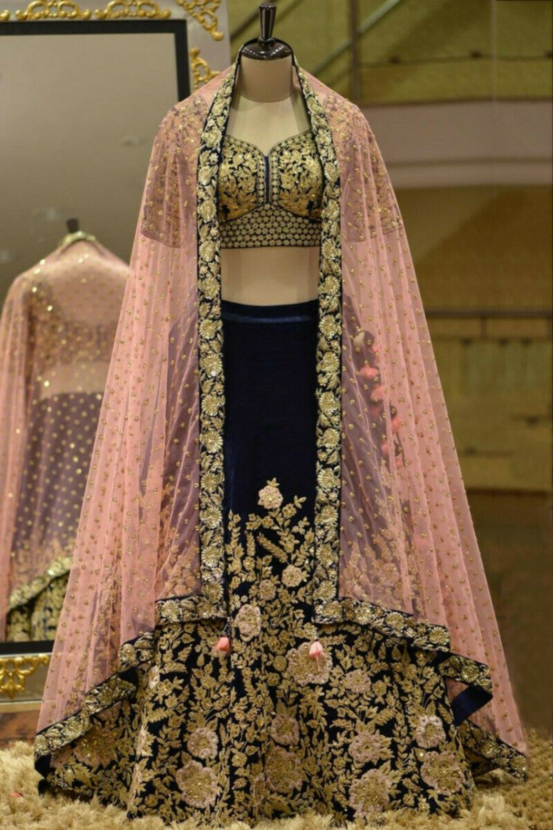 Blue Lehenga Choli For Bridal