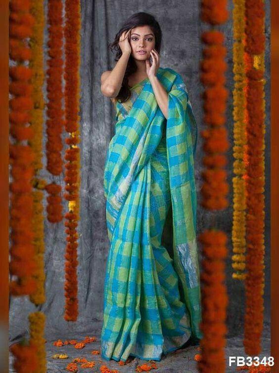 Bollywood Sabhaysachi Chanderi Cotton Saree