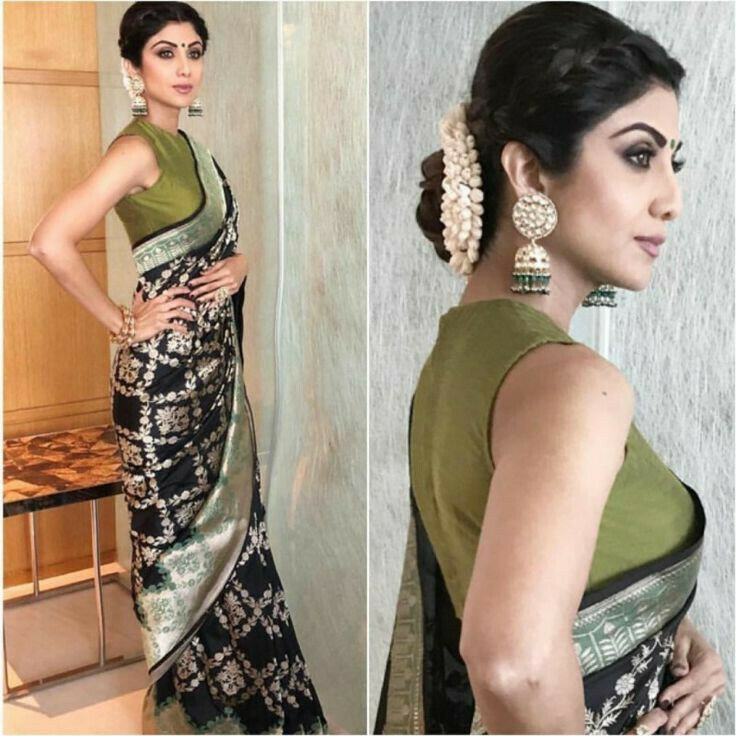 Bollywood Style Black Saree