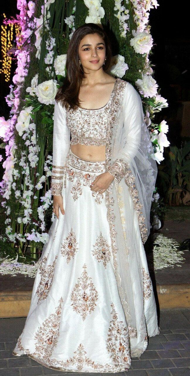 Bollywood Style White Lehenga Chol