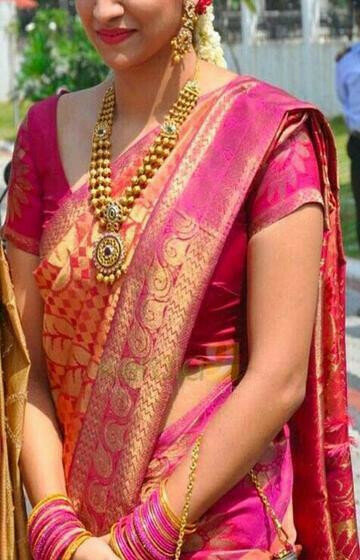 Captivating Pink Color Designer Soft Silk Saree