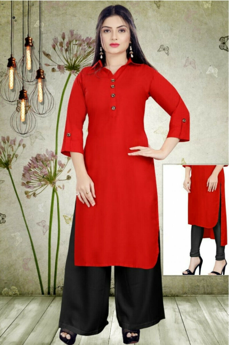 Casual wear Red Palazzo Suit
