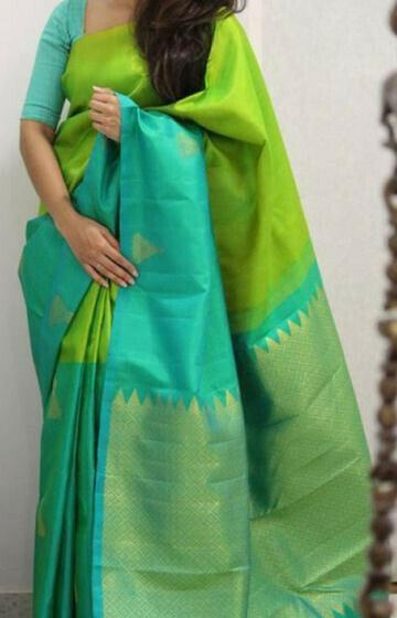 Charismatic Green Color Soft Silk Designer Sarees