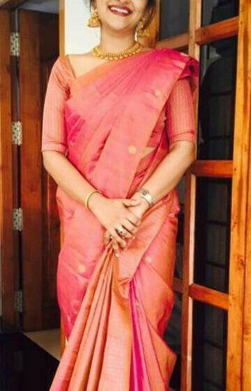 Charming Pink Color Soft Silk Designer Saree