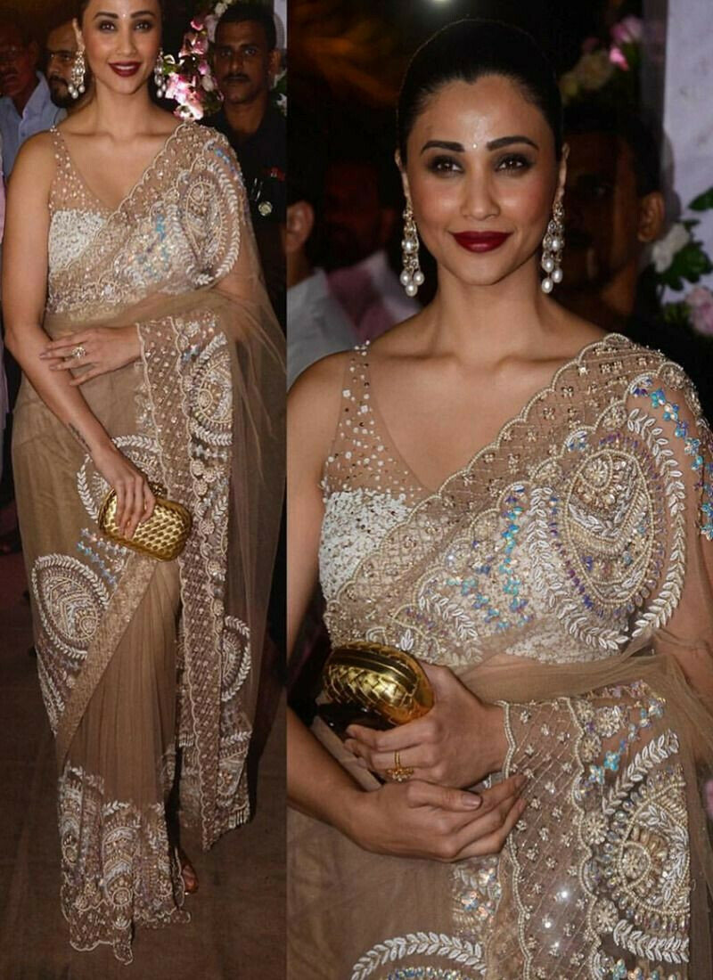 Daisy Shah Festive Partywear Designer Saree