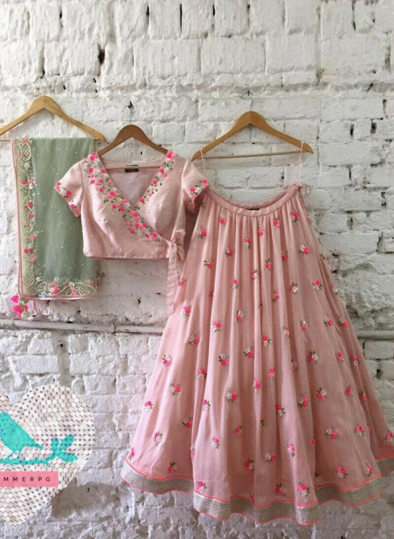 Designer Baby Pink Lehenga choli